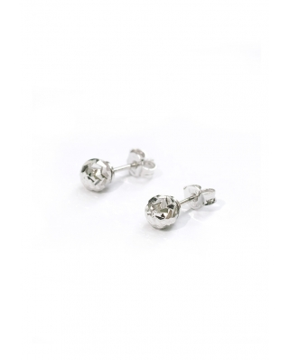 Diamond cut Silver Earrings 6mm