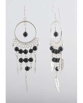 Dream Catcher Earrings TE064-3, Sterling Silver