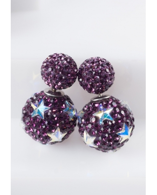 Star Crystal Earrings / CE421-08