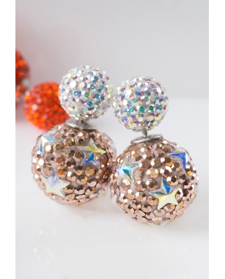Star Crystal Earrings / CE421-10