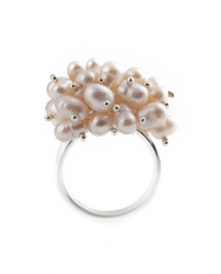 Silver Ring with Pearl / CR001