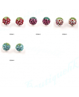 CE044, 8mm Half Ball EARRING