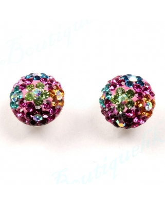 CE045, 8mm Half Ball EARRING