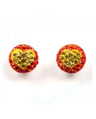 CE046, 8mm Half Ball EARRING