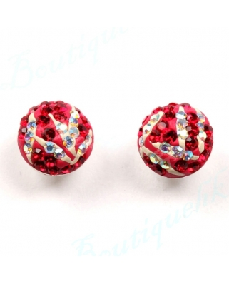 CE048, 8mm Half Ball EARRING