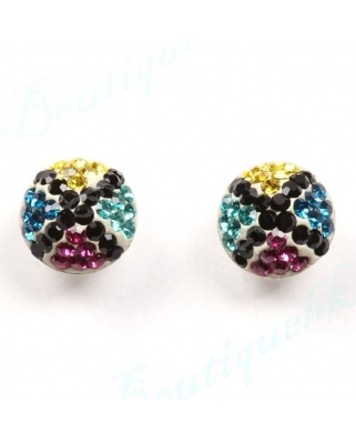 CE052, 8mm Half Ball EARRING
