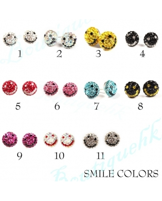 Crystal Earrings 8mm Full Ball