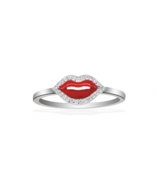 Kiss Silver with CZ Ring / A14568XR