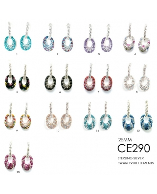 Crystal Earrings / CE290, 25mm