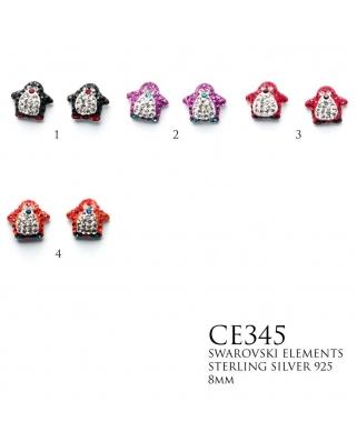 Crystal Earrings / CE345, 8mm