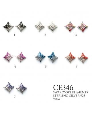 Crystal Earrings / CE346, 9mm