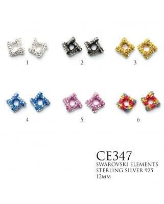 Crystal Earrings / CE347, 12mm