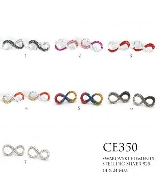 Crystal Earrings / CE350, INFINITY