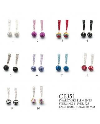 Crystal Earrings / CE351, 10mm