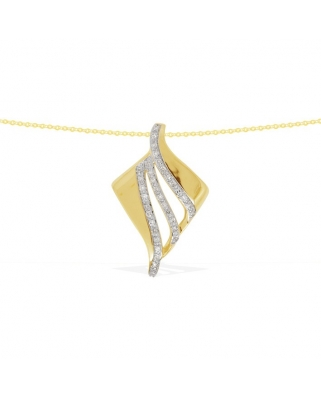 9K/375Gold with Diamond Necklace