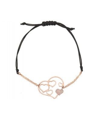 Small Hand 18K Gold half-chain half-string bracelet / 26286