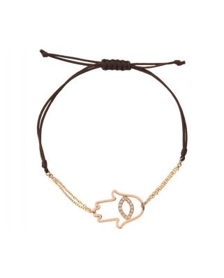 Small hand 18K Gold Bracelet / 25348