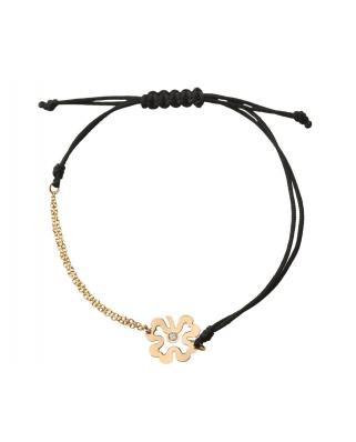 18K Gold half-chain half-string bracelet / 35614