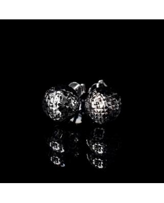Diamond cut Silver Earrings 10mm