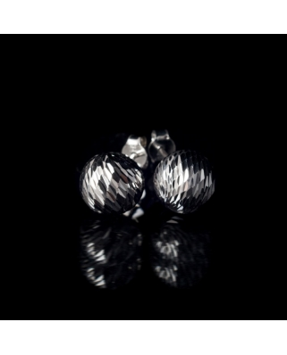 Diamond cut Silver Earrings 10mm