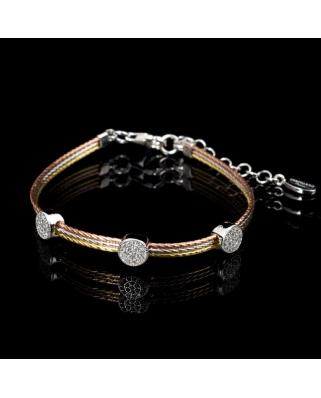Tri color Vermeil bracelet