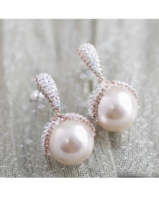 Crystal Pearl Earrings / CE401