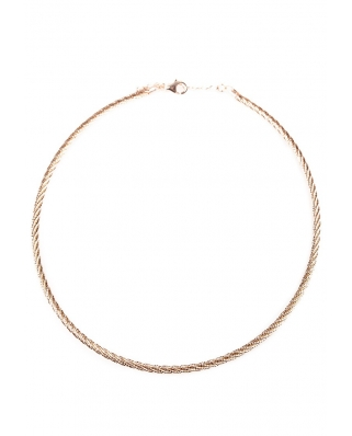 Rose Gold Vermeil Omega Twist Necklace