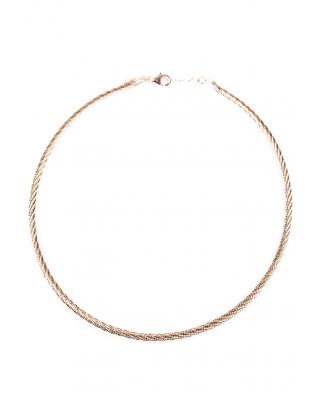Rose Gold Vermeil Omega Twist Necklace