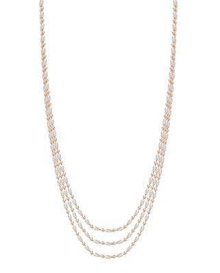 Rice bead Rose Gold Vermeil Necklace 42cm