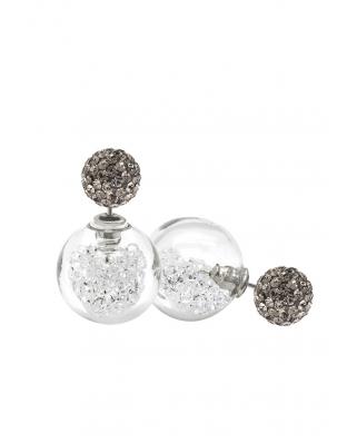 Crystal Earrings Sterling Silver