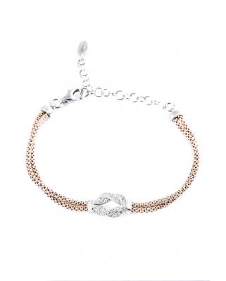 Rose Gold Vermeil with CZ bracelet