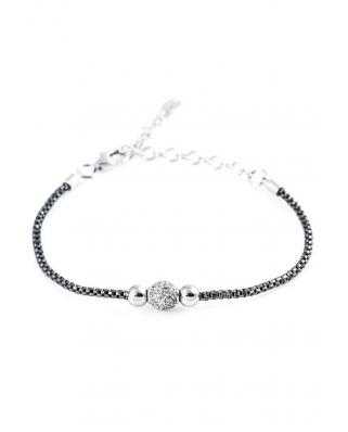 Silver with CZ Bracelet