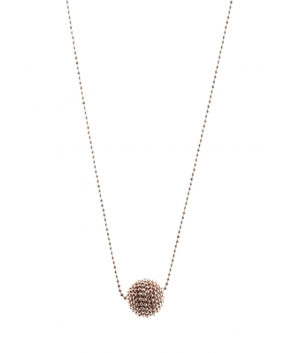 Rose Gold Vermeil Round Bead Sterling Silver Necklace