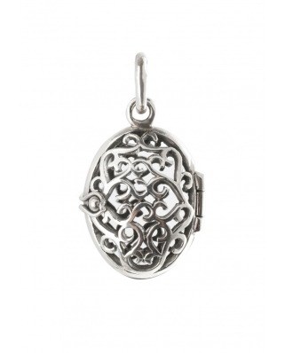 Filigree Locket Aromatherapy Essential Oil Diffuser Sterling Silver Pendant