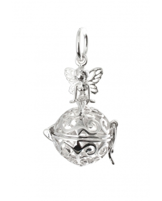 Angel Aromatherapy Essential Oil Diffuser Sterling Silver Pendant