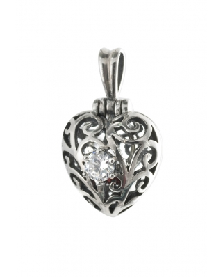 Locket Heart Aromatherapy Essential Oil Diffuser Sterling Silver Pendant
