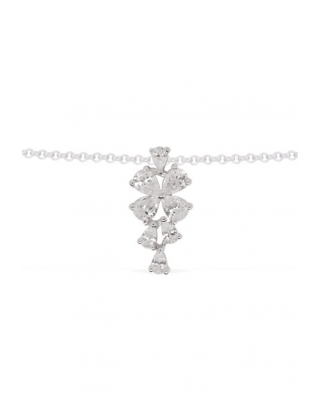 Silver with CZ Necklace / AP10009OX