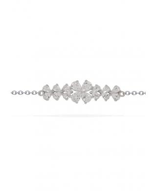 Silver with CZ Bracelet / AB3216OX