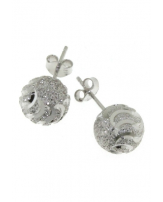 Diamond cut Silver Earrings