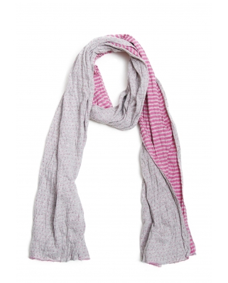 2 Layers Striped Scarf