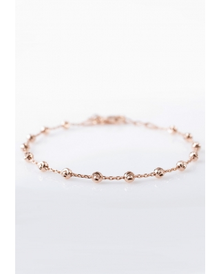 Rose Gold Vermeil bracelet 3mm / CYB008R / Moon Cuts