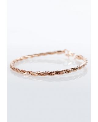 Rose Gold Vermeil bracelet twist 3 lines / CYB009R