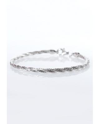 Silver bracelet twist 3 lines / CYB009S