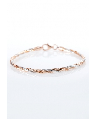 Rose Gold Vermeil bracelet twist 3 lines / CYB009SR