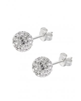 Crystal Earrings, 7mm Ball