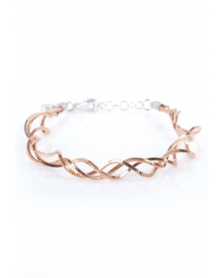 Rose Gold Vermeil Twisted Sterling Silver Bracelet