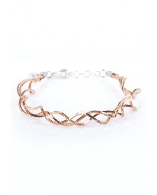 Rose Gold Vermeil Twisted Sterling Silver Bracelet