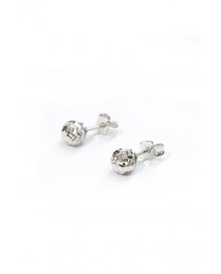 Diamond cut Silver Earrings 6mm