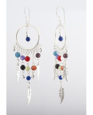 Dream Catcher Earrings Te064 1 Sterling Silver