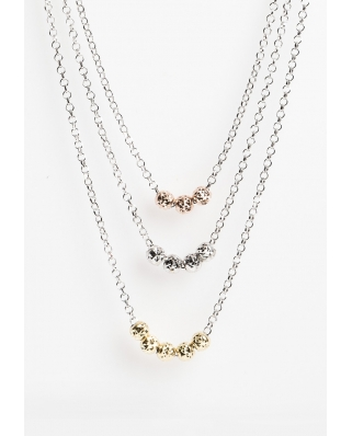 Tri color Vermeil necklace